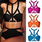 New Sexy Beach Womens Vintage High Waist Bikini Set Bandage Swimwear Swimsuit FO