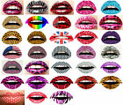 5 Lip Sticker Temporary Tattoo Sticker Transfers Lipstick Art Party Fancy Dress
