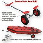 "Seamax Portable Boat Carry & Launch Hand Dolly Set with 16"" Pneumatized Wheels"