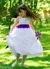 SALE New Girls White Satin and Organza First Holy Communion Flower Girl Dress