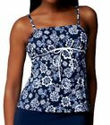 Fit 4 U Hips Hips Pattie's Flower Bandeau Skirtini Swim TOP ONLY ~A220844