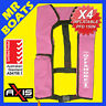 4 x AXIS INFLATABLE LIFEJACKET -PINK- 150N PFD1 OFFSHORE Manual Jacket FREE POST
