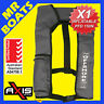 AXIS INFLATABLE LIFEJACKET - GREY - 150N PFD1 OFFSHORE Manual Jacket FREE POST