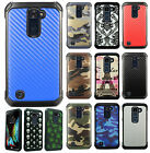 For LG K10 Rubber IMPACT TRI HYBRID Case Protector Skin Phone Cover Accessory