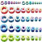 16x Mix 2-12mm Dot Acrylic Screw Ear Plug Tunnel Expander Stretcher Punk Jewelry