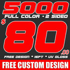 5000 Full Color Business Cards Printing Design! UV Gloss! FREE SHIPPING