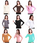 Muslim Ladies Tight T Shirt Islamic Women's Long Sleeve Tops Modal Cotton Blouse