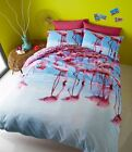 Flamingo Designer Duvet Quilt Cover Set With Pillowcases, Single Double King