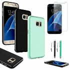Ultra Thin Pudding TPU Soft Case Skin+Stylus+Clear Film For Samsung Galaxy S7
