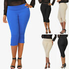 """TheMogan """"Ease Into Comfort Fit"""" Pull On Capri Pants Work to Play Crop Trousers"""