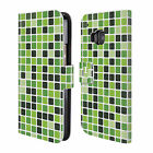 HEAD CASE DESIGNS MOSAIC TILES LEATHER BOOK WALLET CASE COVER FOR HTC ONE M9