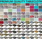 WIPE CLEAN TABLECLOTH WIPEABLE PVC VINYL ALL DESIGN & COLOURS TABLE COVER
