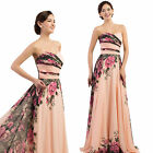 SUMMER NEW WOMENS LADIES CHIFFON FLORAL LONG MAXI BEACH EVENING PARTY DRESS 4-18