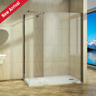 Walk In Shower Enclosure Curved Glass Screen Side Panel Stone Tray Easyclean WWF