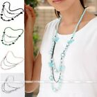Bohemia Style Chic Women Butterfly Ball Beads Pendant Long Chain Necklace Gift