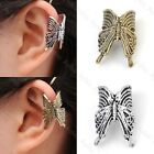 Punk Vintage Retro Butterfly Ear Cuff Wrap Clip Earring Rock Gothic No Piercing