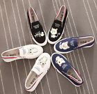 Fashion Luminous Hand-painted Cute Cartoon Cats Kittens Comfortable Canvas Shoes