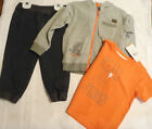 Lee 2T Jeans Orange Short Sleeve Shirt Grey Zip Front Hoodie NWT Cotton Outfit