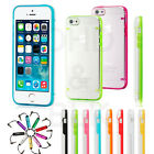 Clear Transparent Crystal Soft TPU Silicone Gel Cover Case Skin for iPhone 5s SE