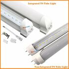 10pcs LED 4 ft. Foot T8 20W Integrated Tube Light Lamp 6000K CLEAR, FROSTED LENS