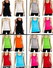 Wholesale Women Racerback Tank 100% Cotton Basic Solid Tee NEW TT402 SMALL S Lot
