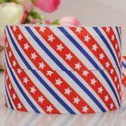 "7/8""22mmUSA Independent day white star pattern printed grosgrain ribbon 4th July"
