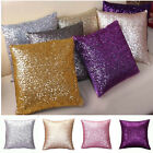Bling Glitter Solid Sequins Throw Pillow Case Lounge Cafe Decor Cushion Cover