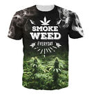 New Fashion Women/Mens Weed Everyday Funny 3D Print Casual T-Shirt