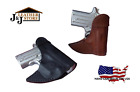 J&J TAURUS PT738 TCP 380 FORMED FRONT POCKET STYLE PREMIUM LEATHER HOLSTER