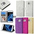 For Samsung Galaxy S7 Edge Luxury Bling Diamonds Leather Wallet Flip Case Cover