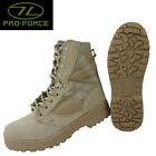 PRO FORCE HIGHLANDER DESERT RAT BOOTS SIZES 7-13 ARMY FORCES TAN SUEDE