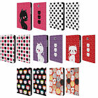 HEAD CASE DESIGNS CATS AND DOTS LEATHER BOOK CASE FOR SAMSUNG GALAXY TABLETS