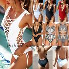 Sexy Women One Piece Push-Up Top Monokini Bikini Padded Bra Swimsuit Swimwear FO