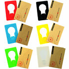 Credit Card Size Wallet Purse Pocket Portable Folding Led Night Light Lamp Bulb