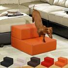 Pet Dog Stairs Cat Leather Portable Covered Folding Step Climb Ramp Sofa Bed