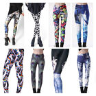 New Women Colorful Galaxy Print Leggings Stretchy Sexy Jeggings Pencil Pants Hot