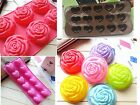 Roses, Heart  Silicone Candy Chocolate Cake Cookie Cupcake Soap Molds Mould DIY