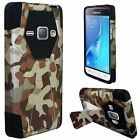 Samsung Galaxy Express 3 Turbo Layer HYBRID KICKSTAND Rubber Case Phone Cover