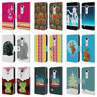 HEAD CASE DESIGNS MIX CHRISTMAS COLLECTION LEATHER BOOK WALLET CASE FOR LG LEON