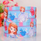 "1/2""38mm 3/5/10 yards beautiful princess printed grosgrain ribbon DIY hair bow"
