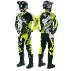 O'Neal Element Shocker Neon Gelb Combo MX Moto Cross Hose Jersey Handschuhe Set