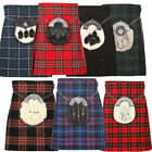Mens 5 Yard Tartan Kilt in Popular Tartans Size 30 to 50 inches- Free Kilt Pin!!