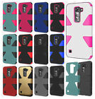 For LG Treasure LTE L52C IMPACT TUFF HYBRID Protector Case Skin Phone Cover