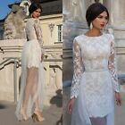Luxury Women Transparent Lace Bodycon Long Sleeve Evening Bridesmaid Maxi Dress