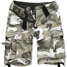 Brandit Vintage Classic Mens Army Military Cargo Combat Shorts Cotton Urban Camo