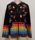 RISING INTERNATIONAL NEPAL HIPPIE HOODIE Patchwork JACKET FAIR TRADE FLOWER