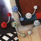 Choose Color Belly Button Navel Ring Bar Body Piercing Jewellery Eyebrow Ball