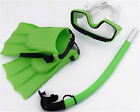 New Child/ Kid Swimming Diving Scuba Goggles Mask & Snorkel Fins Flippers Set