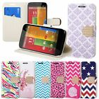 Diamond Belt PU Leather Stand Flip Wallet Case Cover For Motorola Moto G