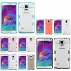 For Samsung Galaxy Note 4 TPU Rubber Gel Gummy Cover Clear Transparent Back Case